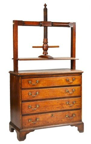 4: George III Chippendale oak book press