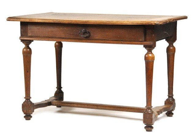 8: English Oak William and Mary Tavern table