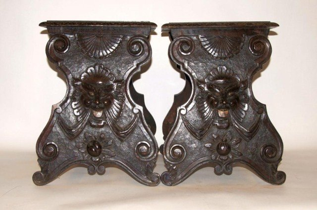 8A: Pair of Italian Renaissance Revival benches