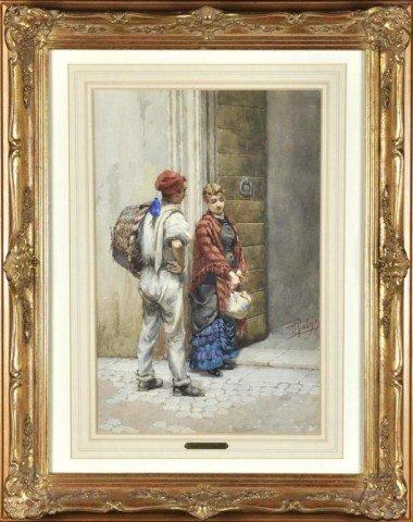 10: Pietro Gabrini, Italian (1856-1926) The Courtship,