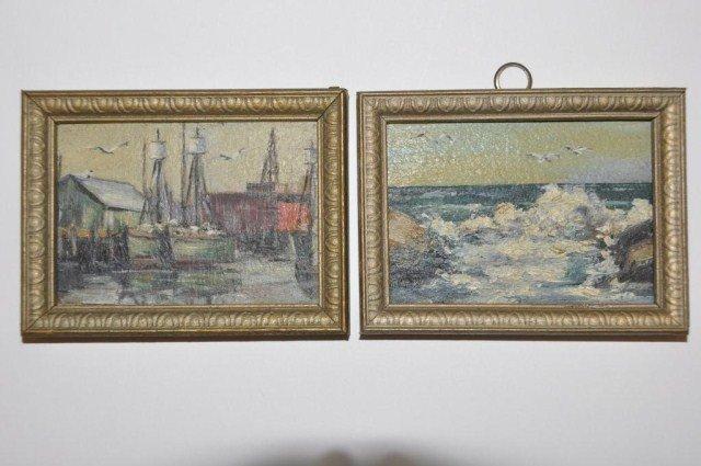 39: American School (20th century) Pair miniatures