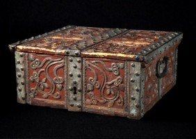 Spanish Colonial Paint Decorated Box