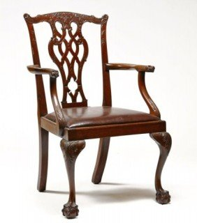 Chippendale Style Mahogany Armchair
