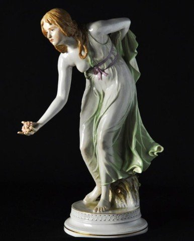 120: Large Meissen figure depicting a partially nude