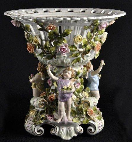122: German porcelain centerpiece