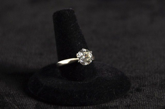 238: Two carat diamond in 14K six prong mount