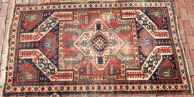 Persian Tribal Caucasian Area Rug