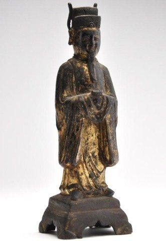 3: Chinese, Qing dynasty, gilt bronze figure