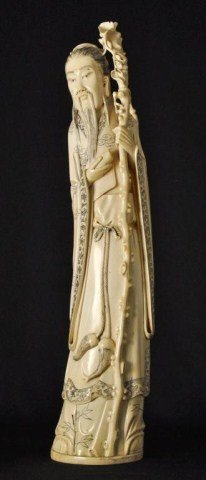 5: Early 20th century Chinese ivory carved figure