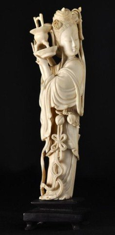 18: Chinese ivory figure of a beauty