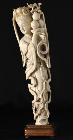 19: Chinese ivory figure of a beauty