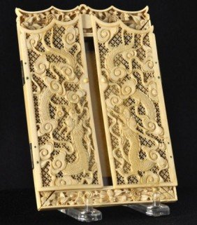 Chinese Export Ivory Reticulated Frame