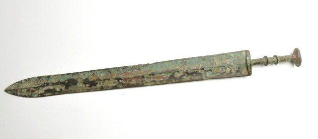 48: Chinese bronze sword, Han Dynasty