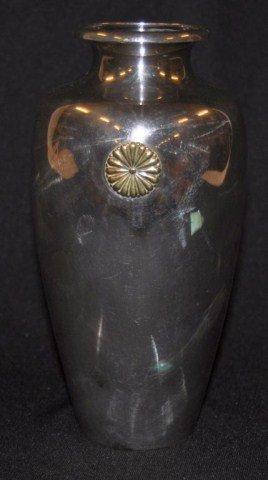 54: Signed Japanese silver vase
