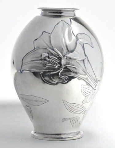 57: 20th century Chinese silver bulbous form vase