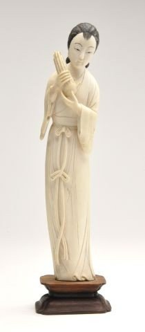 20th Century Chinese Ivory Figure Of A Maiden