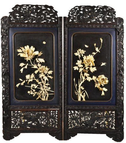 105: Exceptional large Chinese late Qing Dynasty, carve