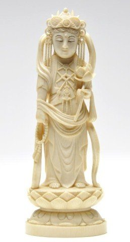 113: Japanese ivory carving of goddess