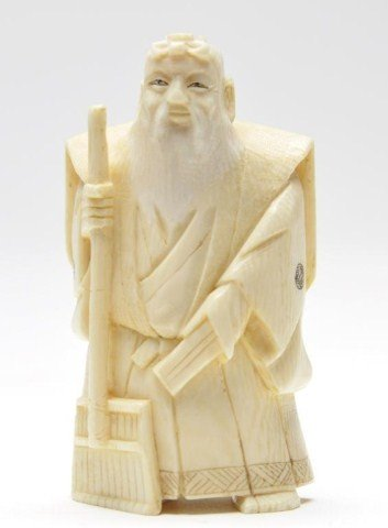 114: Japanese ivory carving of bearded man