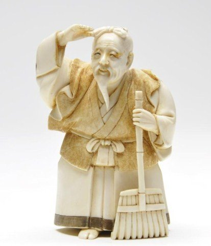 116: Japanese ivory carving of bearded man