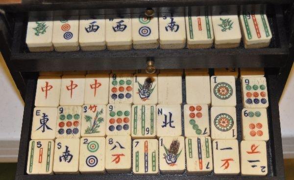 188: Cased Mah jong set - 3