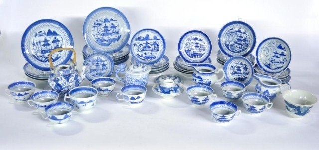 465: Group of approximately 47 pieces of Chinese export