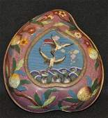 71A: Japanese cloisonne heart shaped box