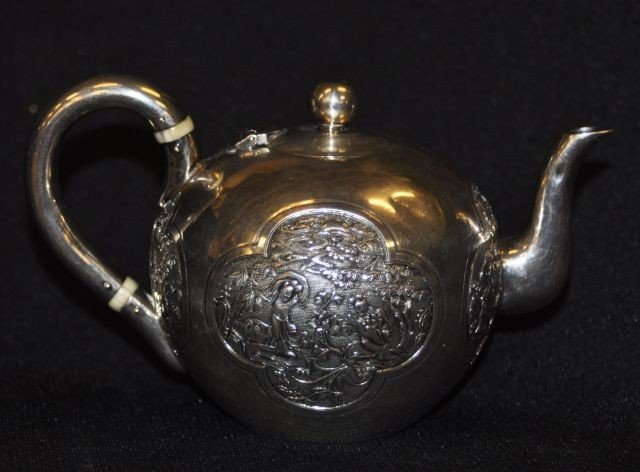 52A: 19th century Chinese miniature silver teapot