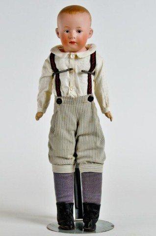 "5: 15"" Bisque Shoulder head boy doll, incised ""3"""