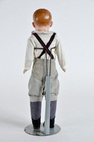 "5: 15"" Bisque Shoulder head boy doll, incised ""3"" - 4"