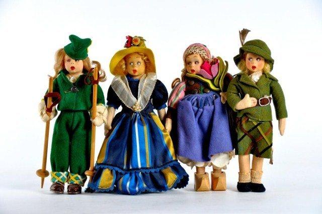 8: Lot of four Lenci Mascottes