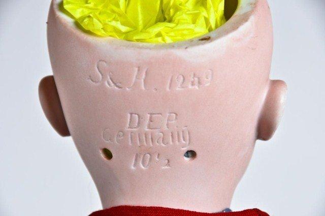 "15: 21"" bisque socket head, incised ""S+H 1259"" - 4"