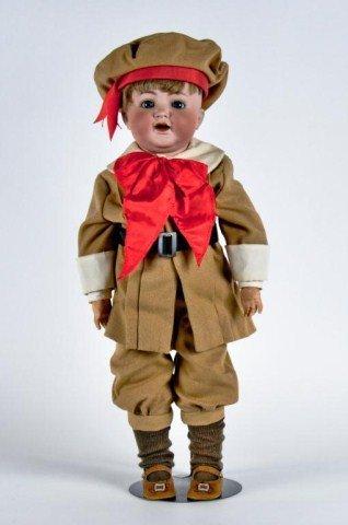 """17: 22"""" Bisque head boy doll,"""