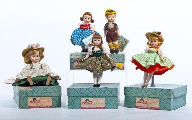 218: Lot of five Madame Alexander Sound of Music dolls