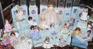 585 Large lot of newer Madame Alexander dolls  some