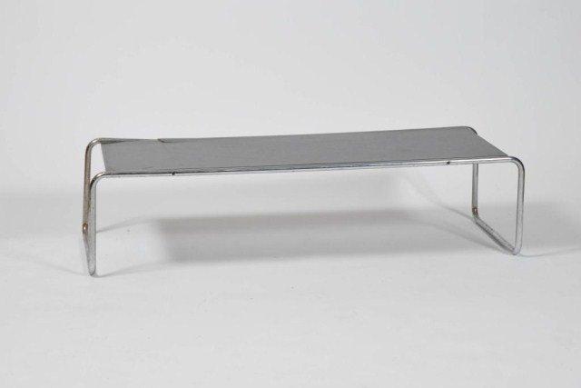 18: Mid Century bent chrome frame coffee table
