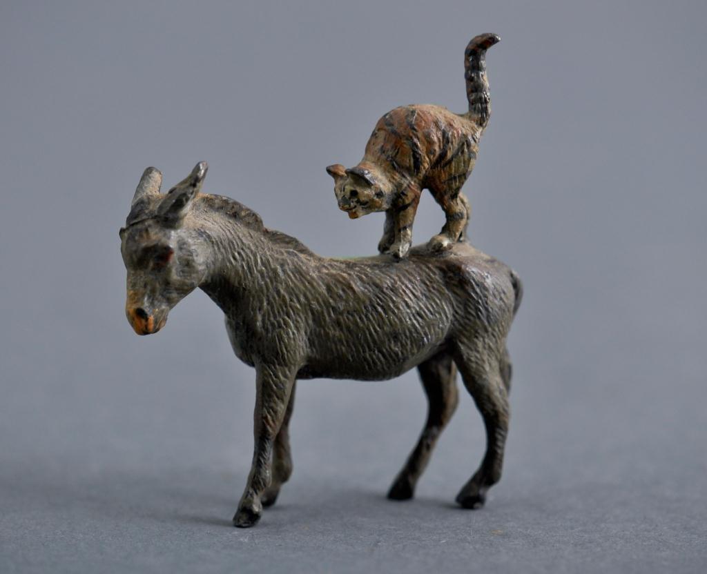 Austrian  Donkey with Cat