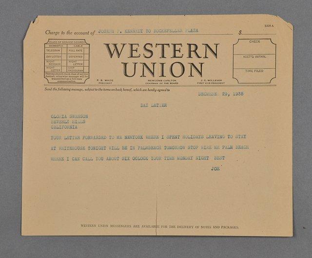 1: 1935-Joe P. Kennedy, Sr. / G. Swanson (Rare) - 5