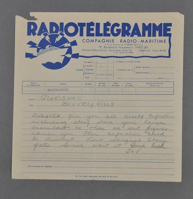 1: 1935-Joe P. Kennedy, Sr. / G. Swanson (Rare) - 6