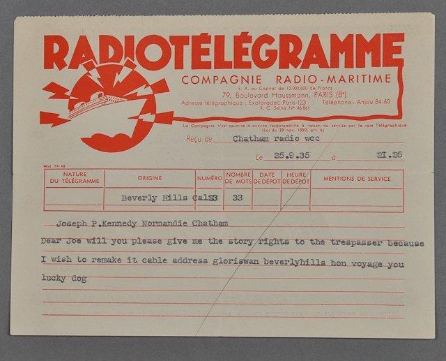 1: 1935-Joe P. Kennedy, Sr. / G. Swanson (Rare) - 8