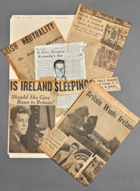"""8: 1941-""""Is Eire Sleeping?,""""  News Clippings"""