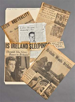 """1941-""""Is Eire Sleeping?,"""" News Clippings"""