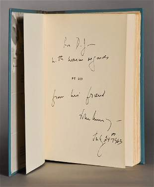 John F. Kennedy, Signed book, as President