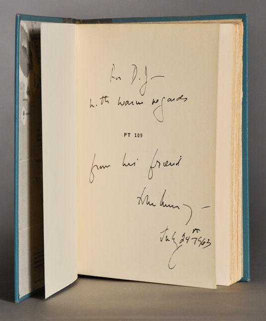 12: John F. Kennedy, Signed book, as President