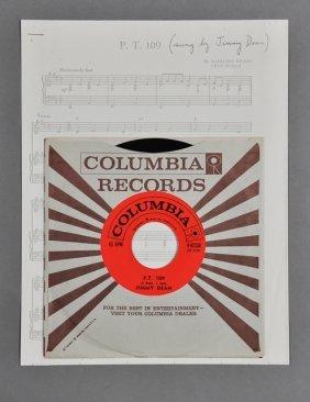 "15: Jimmy Dean, ""P.T. 109"" 45 RPM Record"