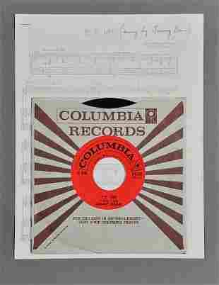 "Jimmy Dean, ""P.T. 109"" 45 RPM Record"