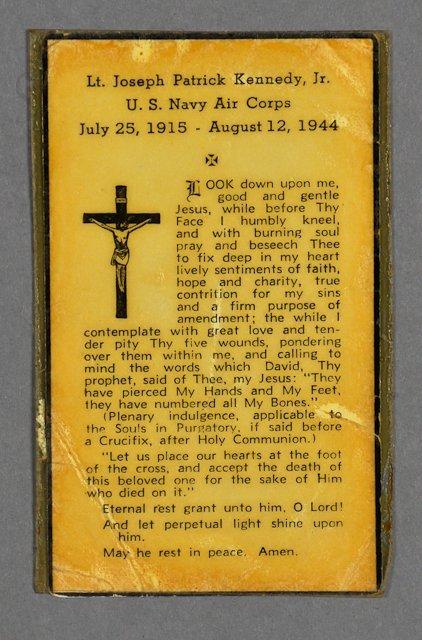 16: 1944-Aug, J. P. Kennedy, Jr. Mass Card Rare - 2