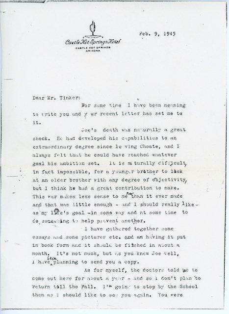 16: 1944-Aug, J. P. Kennedy, Jr. Mass Card Rare - 4