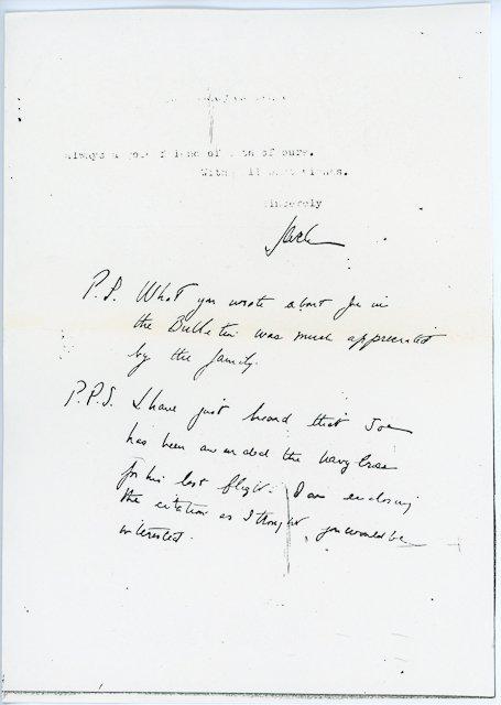 16: 1944-Aug, J. P. Kennedy, Jr. Mass Card Rare - 5