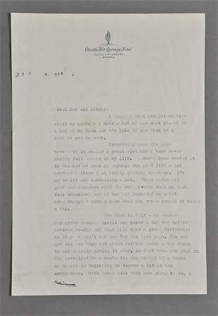 1945-Feb, John F. Kennedy, Signed Letter